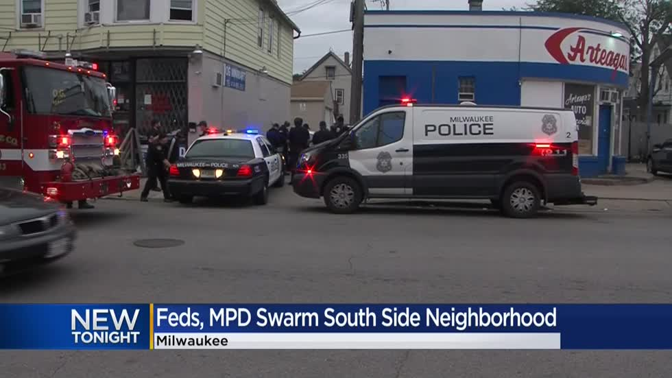 Wanted man fatally shoots himself as federal agents swarm Milwaukee's south side