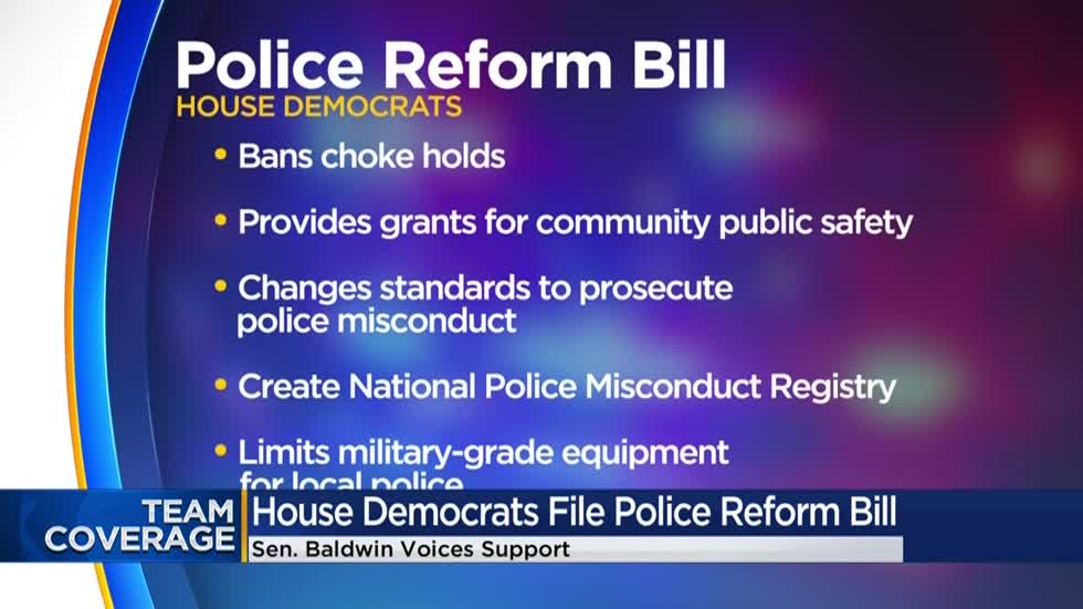 Sen. Baldwin supports police reform bill, does not endorse 'defund police'