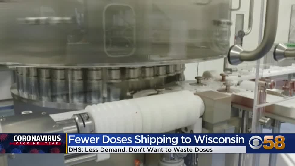 Fewer COVID-19 vaccine doses being shipped to Wisconsin this...