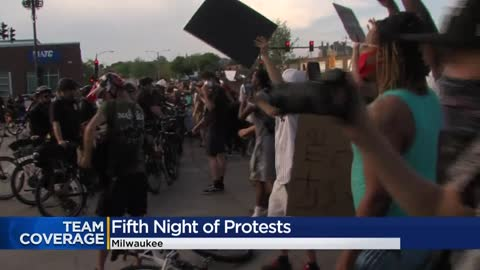 MPD: Protesters gassed, 'ordered to disperse' after throwing rocks, glass at officers