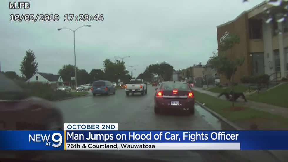 Dashcam video shows Milwaukee man fighting Wauwatosa police officer