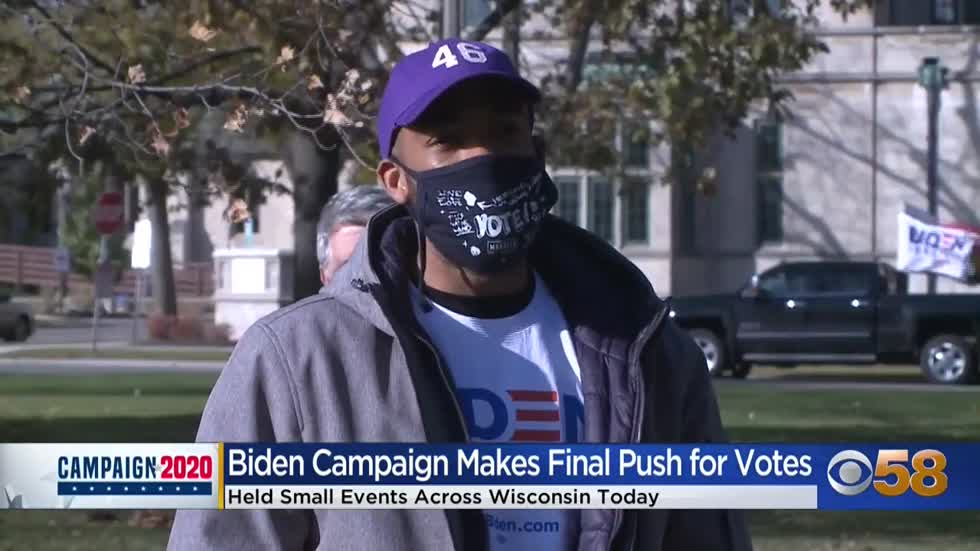 Rallies vs. no crowds: Biden campaign continues to contrast with Trump campaign in Wisconsin