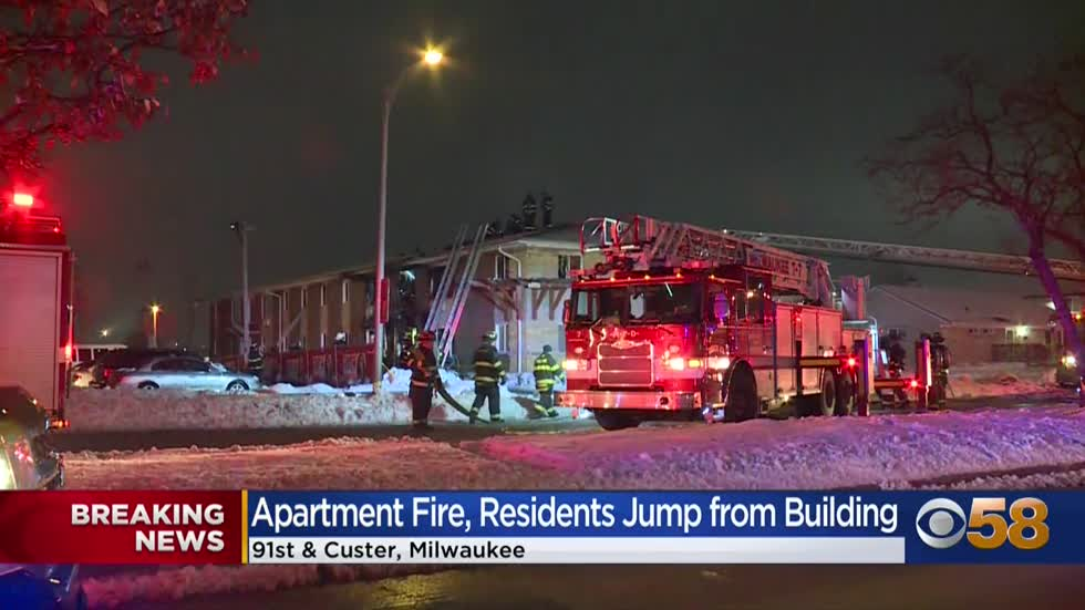 Woman injured after jumping from window during apartment fire near 91st and Custer; several people displaced