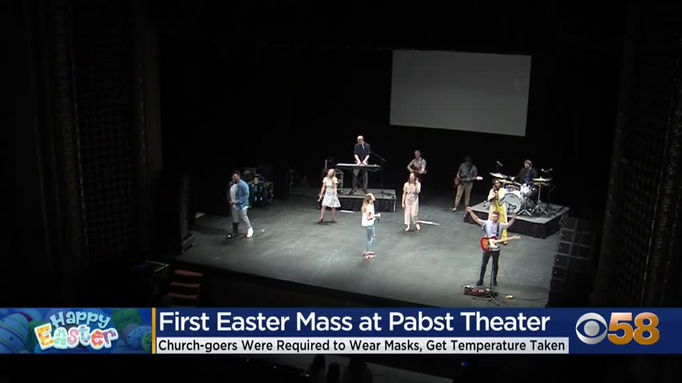 'Last year we were doing what we call Easter out of a box:' Pabst Theater hosts church service on Easter Sunday