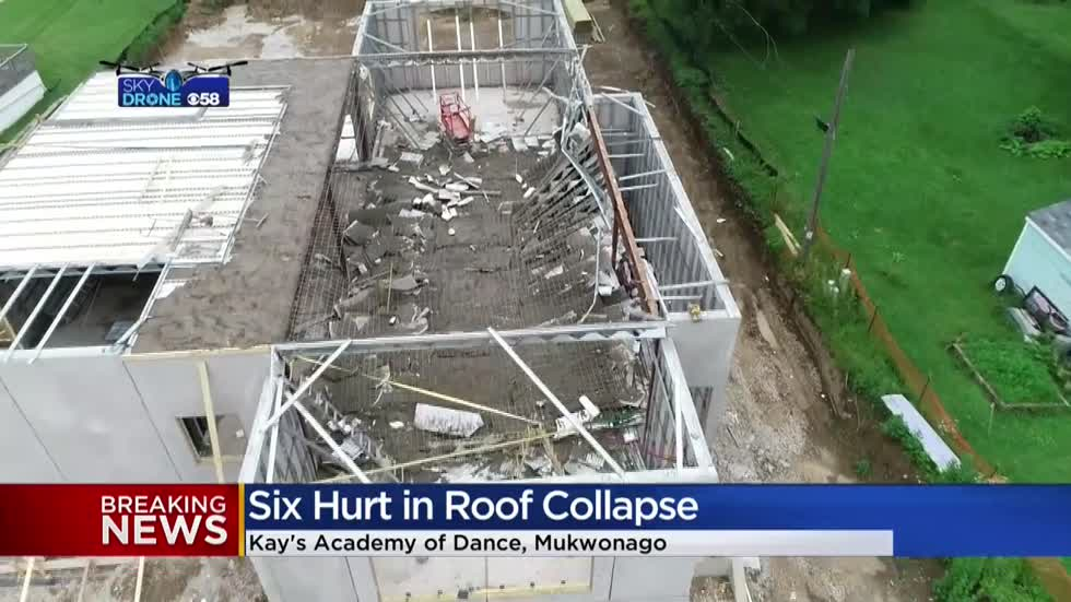 Six taken to hospital after floor collapses in Mukwonago