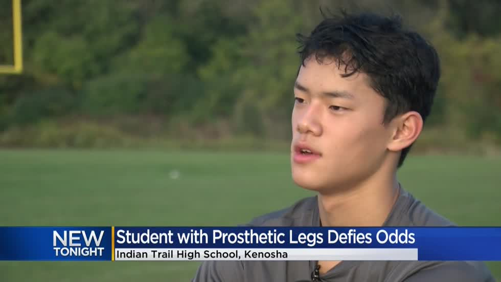 Defying the odds: Double amputee student joins Indian Trail football team