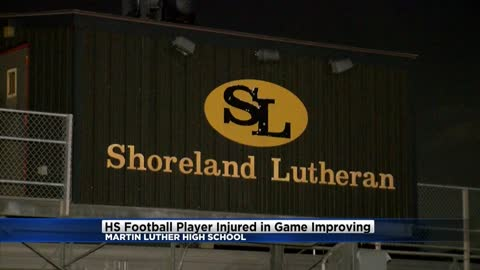 Update: High school football player injured in game continues to improve
