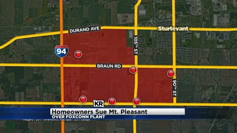 Homeowners sue Mount Pleasant over land for Foxconn