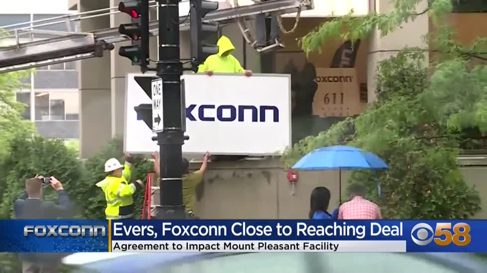 Gov. Evers, Foxconn reach new agreement regarding Mount Pleasant...