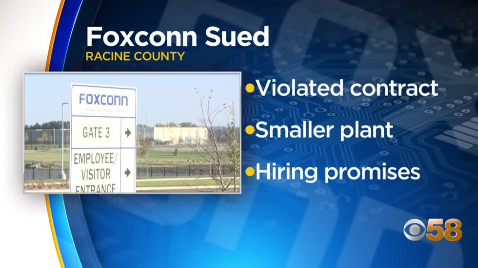Lawsuit targeting Foxconn says Taiwanese company violated contract in Wisconsin