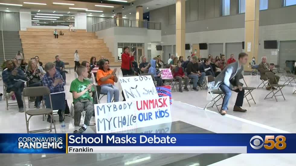 Mask debate heats up at Franklin School Board meeting