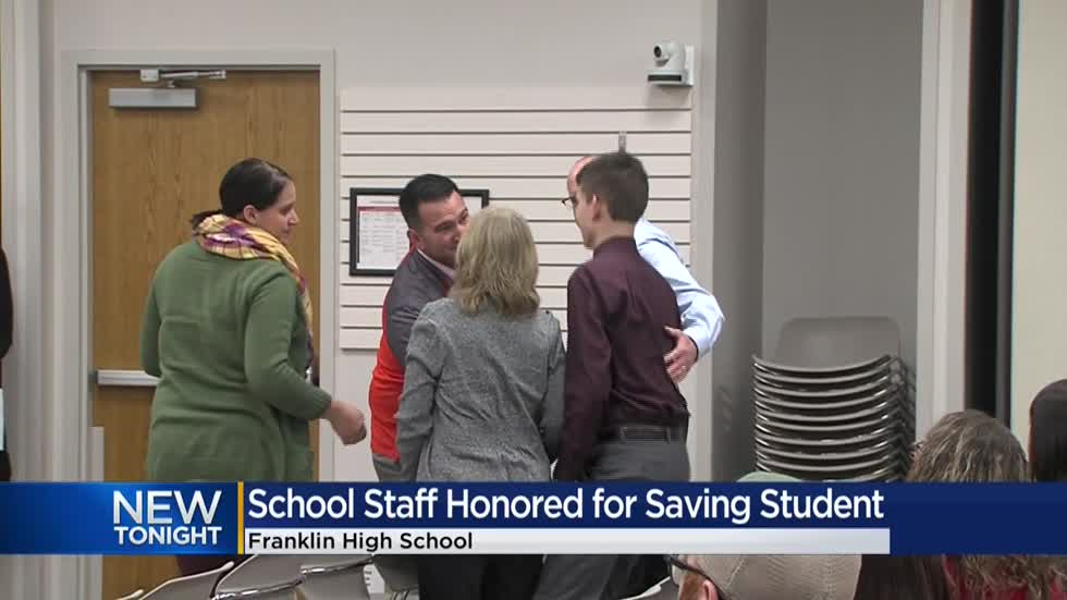 Franklin High School staff honored for saving student in cardiac arrest