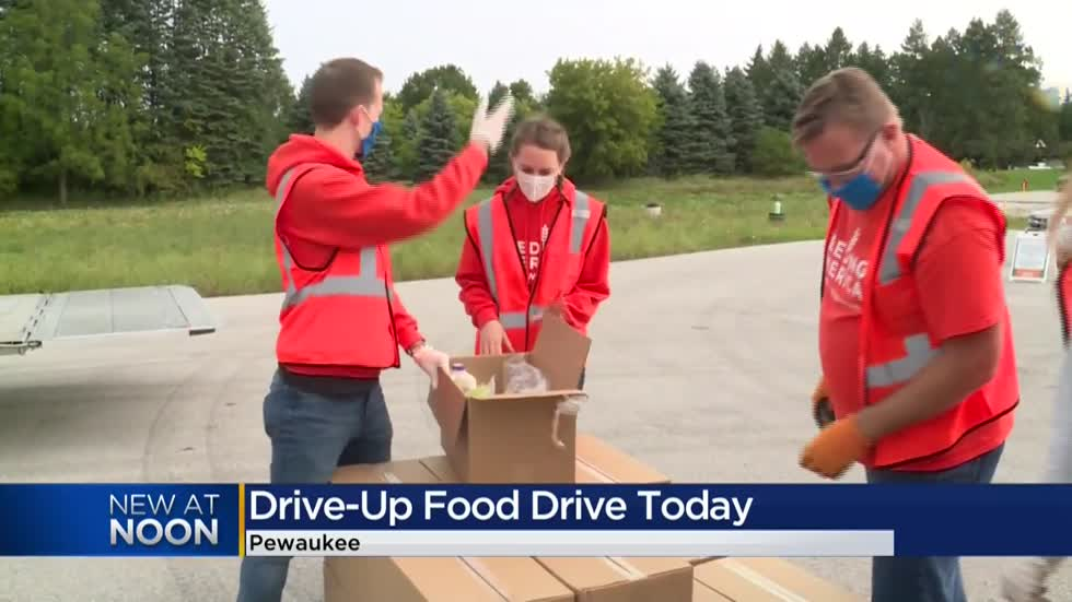 Feeding America Eastern Wisconsin holds free food distribution in Pewaukee