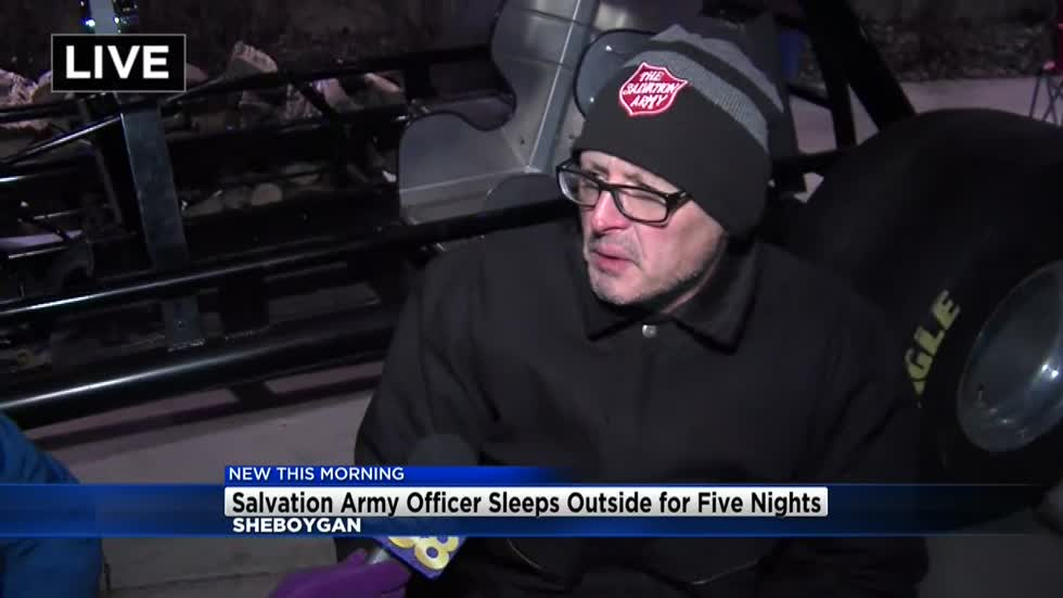 Salvation Army officer sleeping outside for 5 nights to raise awareness of homelessness