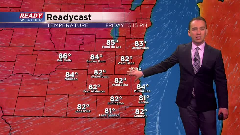 Warmest day of the year followed by storms and a cool down