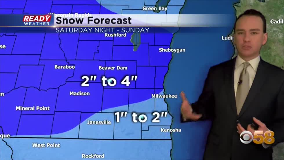 A fluffier snow arrives Saturday night