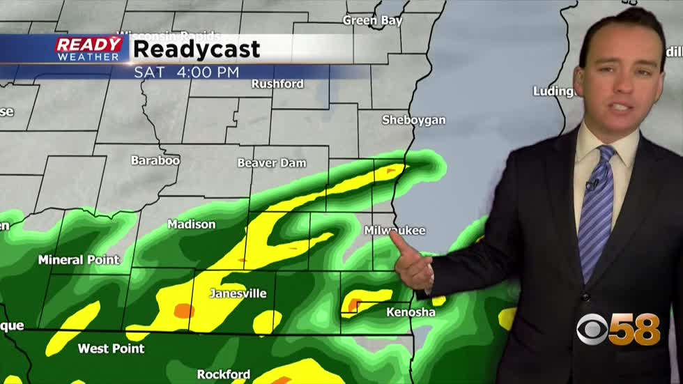 Soggy weather continues into the weekend