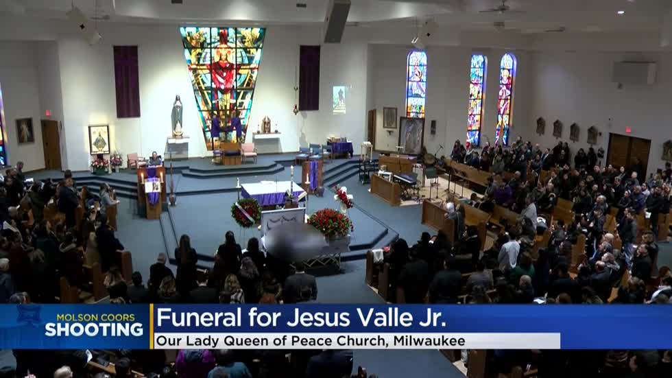 Jesus Valle Jr., one of the Molson Coors shooting victims, is laid to rest