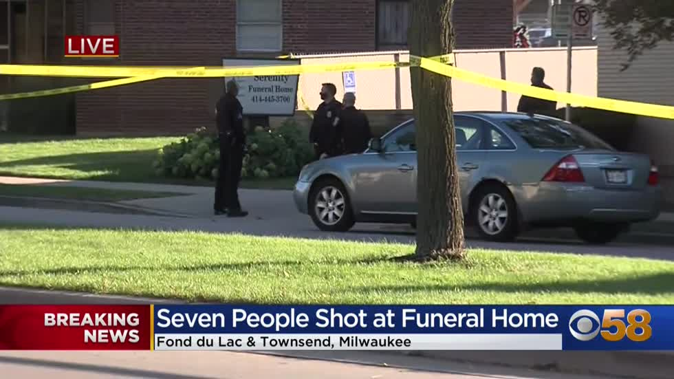 Police investigating after 7 people shot at Milwaukee funeral...