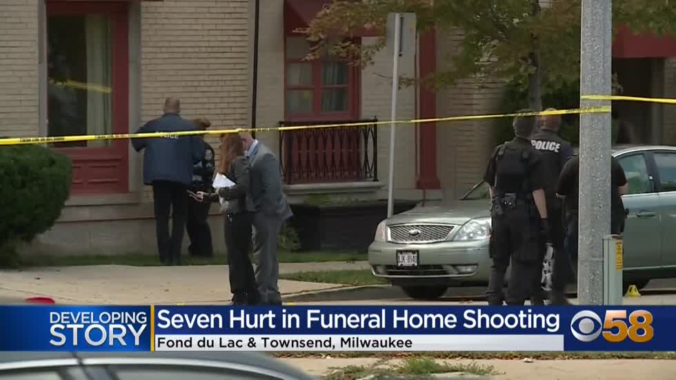 Police investigating after 7 people shot outside Milwaukee funeral...