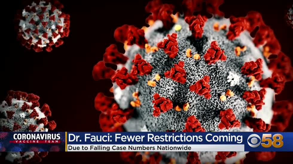 Less restrictive CDC guidelines may come out soon as cases fall nationwide and locally