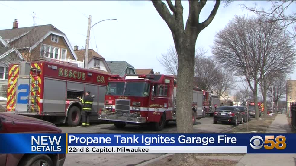 Milwaukee home's garage deemed a total loss after fire near 22nd and Capitol