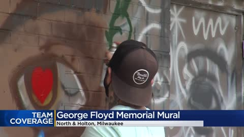 Artists create mural in honor of George Floyd near Holton and North Avenue