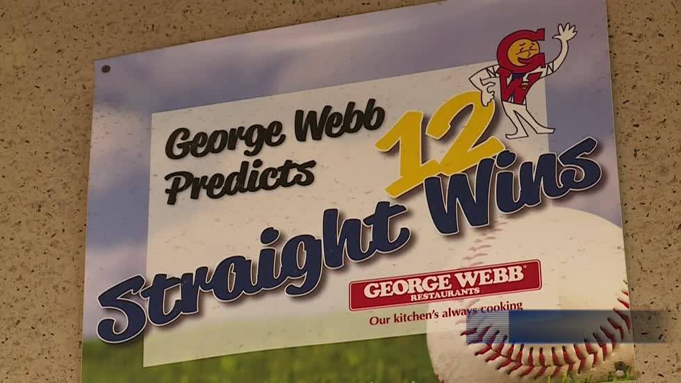 George Webb getting ready for free burgers if Brewers win 12 games
