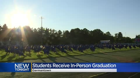Germantown High School holds in-person graduation with health...