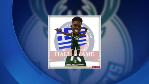 Limited edition Giannis Antetokounmpo Greek Freak bobblehead released