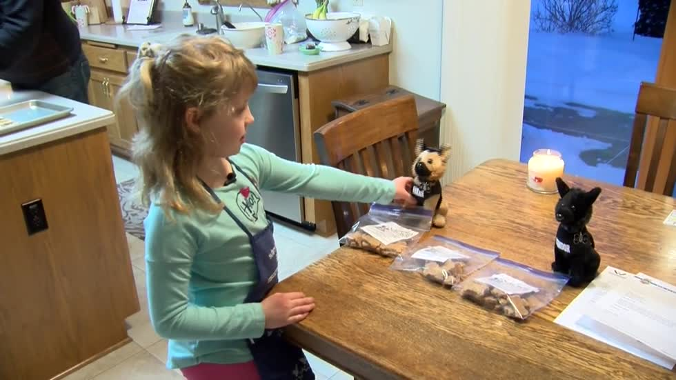 Local girl makes and sells dog treats, donates proceeds to charity