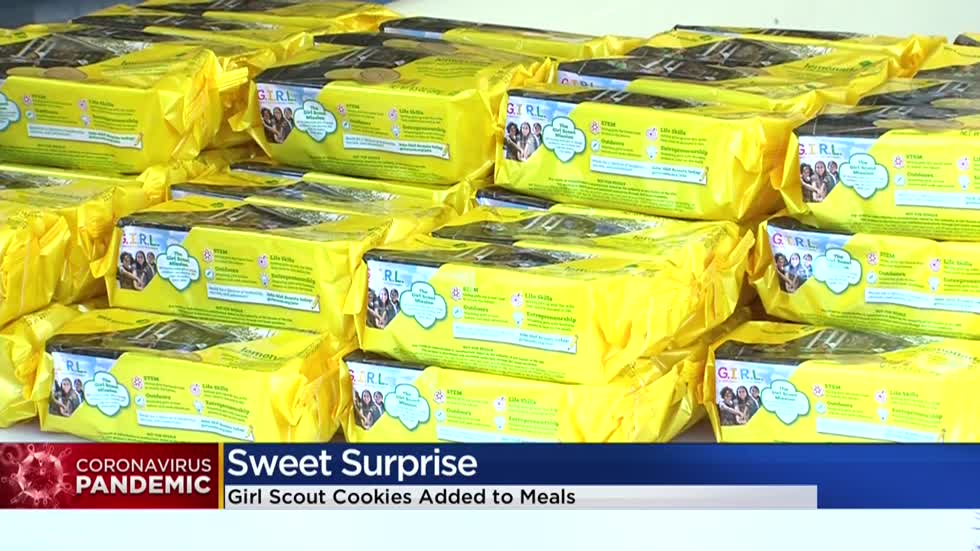 Girl Scouts donate cookies to Boys & Girls Clubs meal distribution program