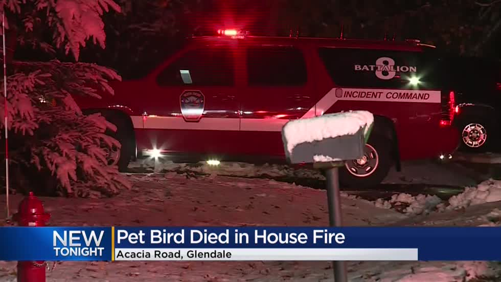 Glendale house fire leaves 3 displaced