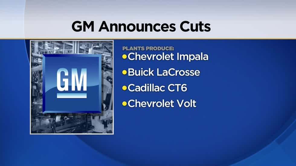 GM to lay off up to 14K workers, close as many as 5 plants