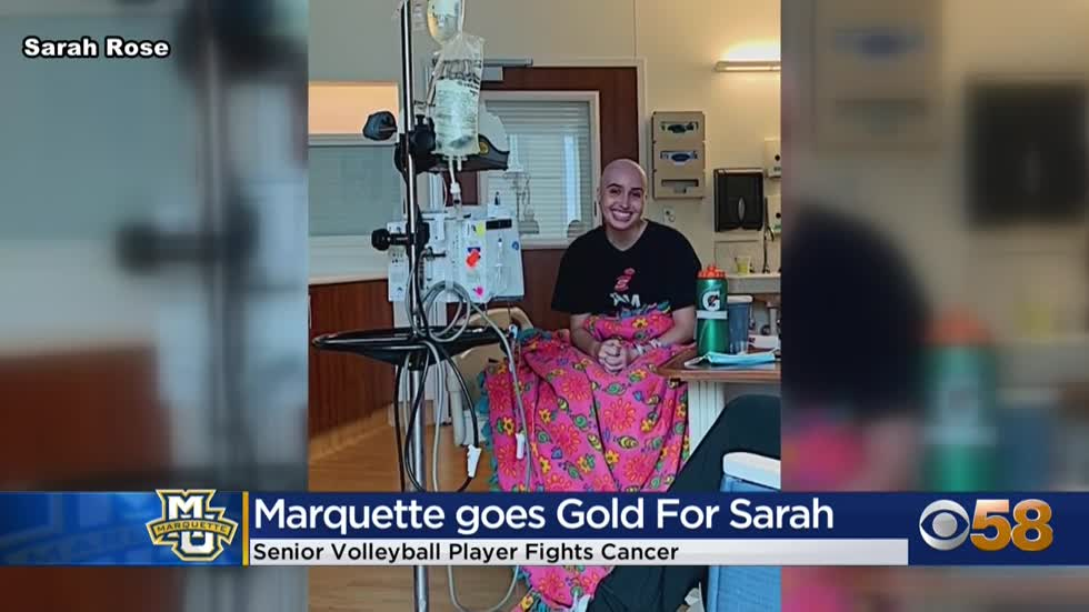 Golden Eagles 'go gold' for Sarah Rose, a Marquette volleyball senior diagnosed with cancer