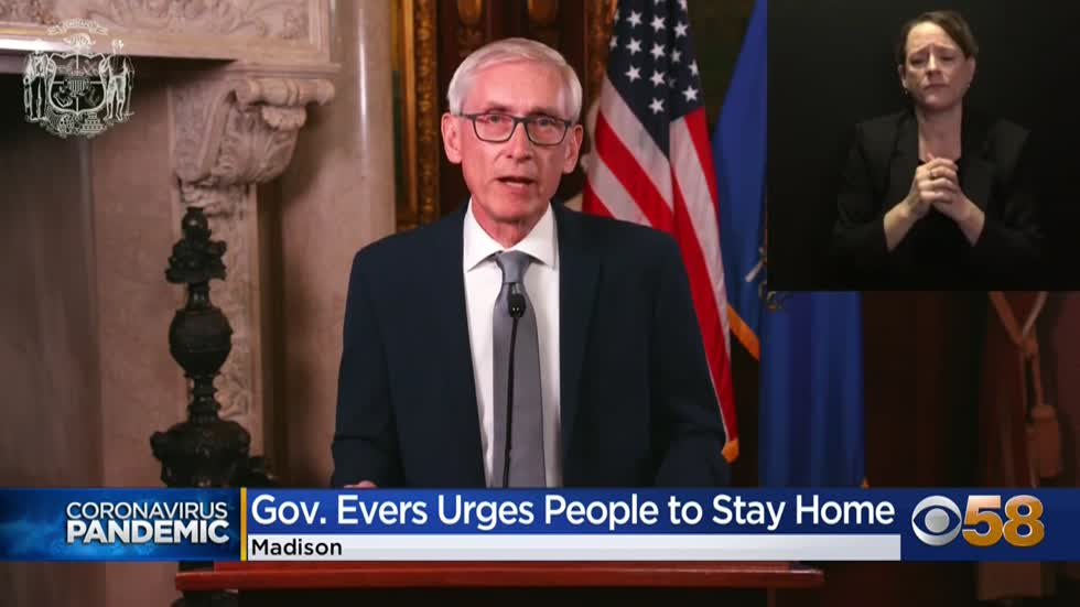 Gov. Evers signs executive order advising Wisconsinites to stay home