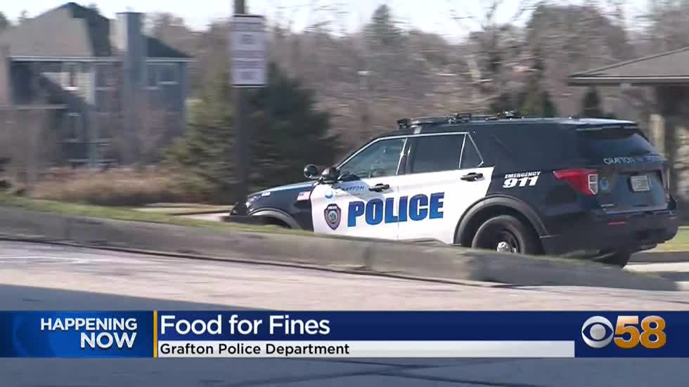 Grafton PD accepting parking ticket payment in form of canned...