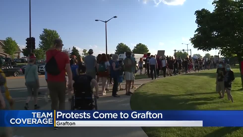 Peaceful protesters march through Grafton, call to end police brutality
