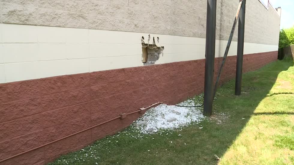 Suspect smashes through wall at Greenfield Best Buy