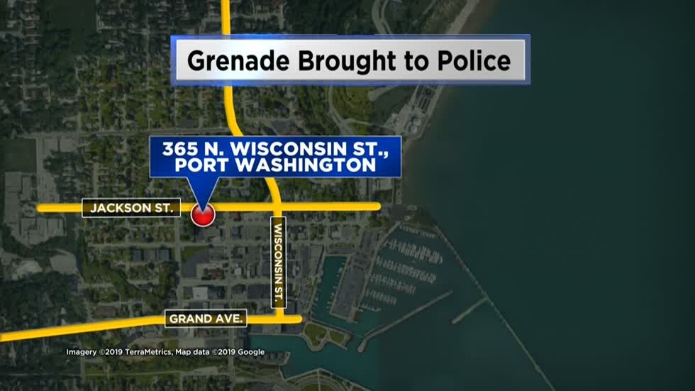 Woman brings grenade to Port Washington Police Department, bomb squad called