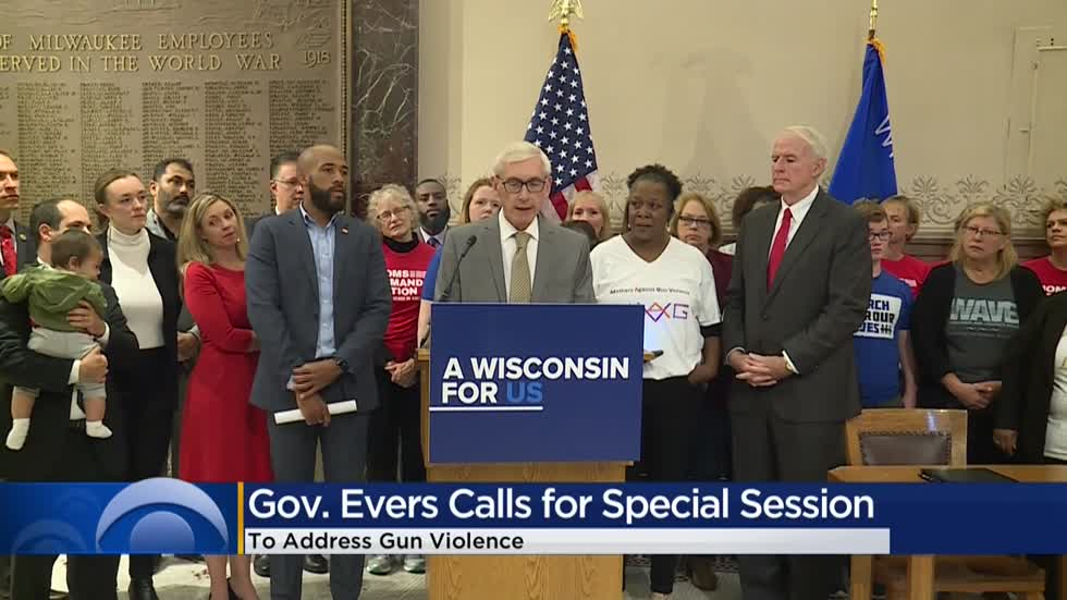 Gov. Evers signs executive order calling for special session to address gun violence in Wisconsin