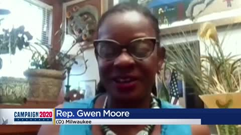 Rep. Gwen Moore applauds Biden's VP choice