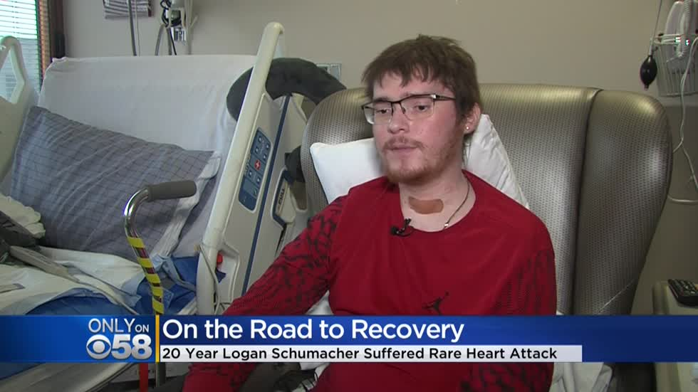 20-year-old Wisconsin man recovering after massive heart attack, transplant