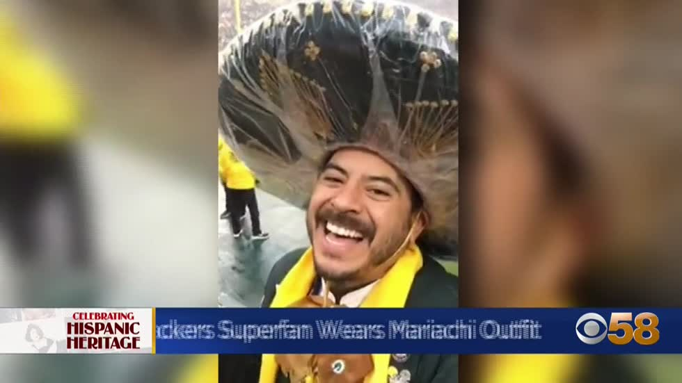 Green Bay Packers superfan celebrates team with traditional mariachi...