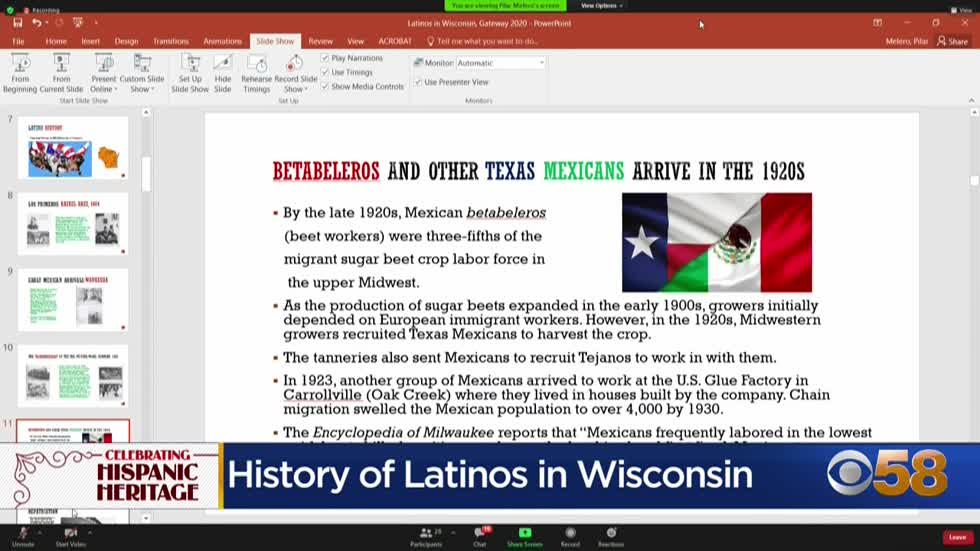 Professor discusses history of Latinos in Wisconsin during Hispanic...