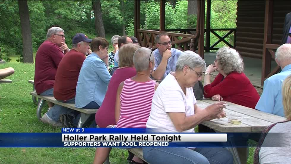 Supporters rally to reopen Holler Park Pool