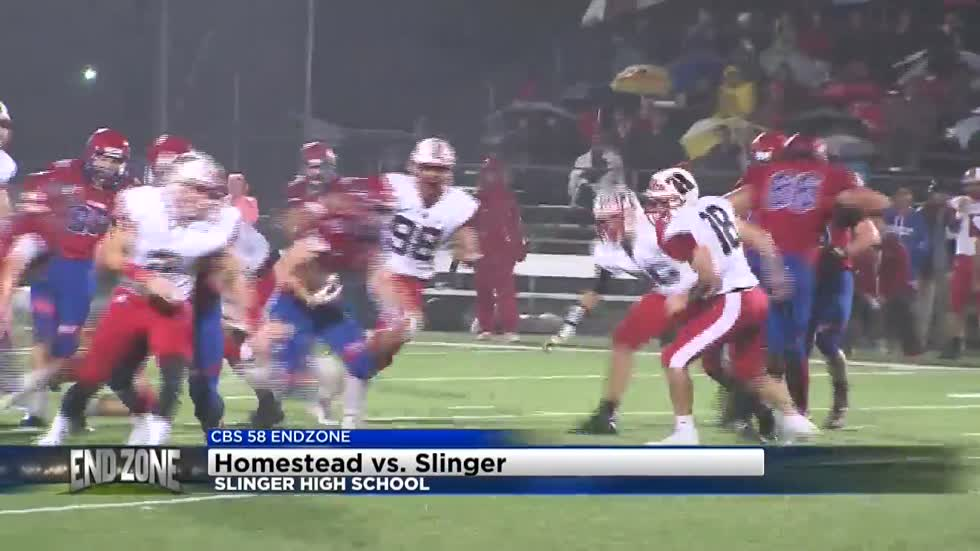 Homestead breaks Slinger's winning streak, 15-14