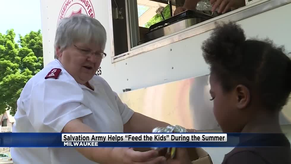 Salvation Army hands out hot dogs during Feed the Kids summer program
