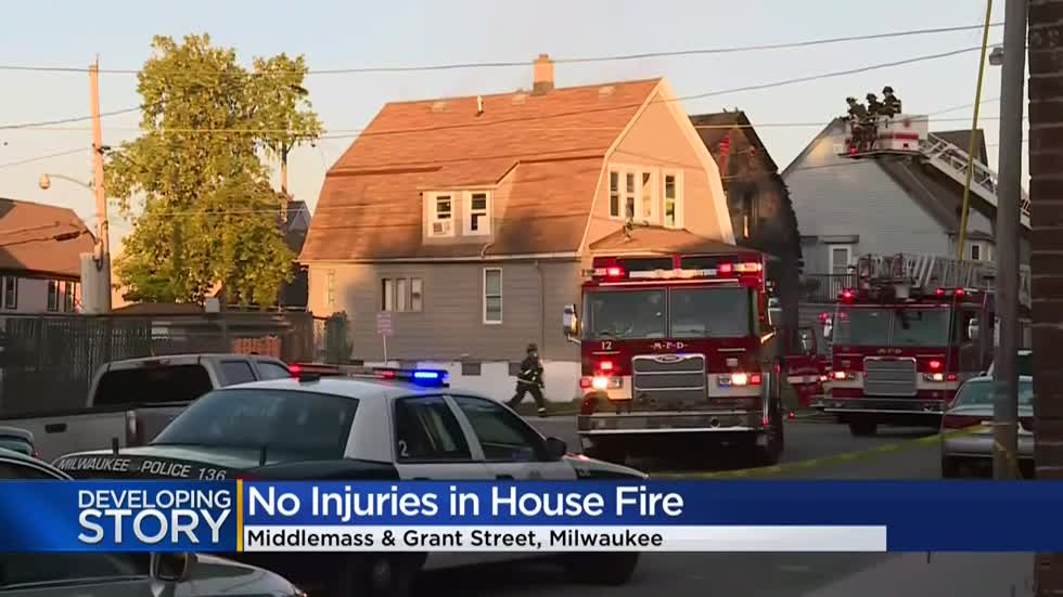 Crews rescue dog from house fire on Milwaukee's south side