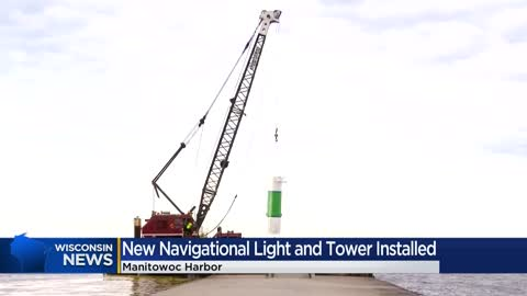 New beacon tower installed in Manitowoc Harbor